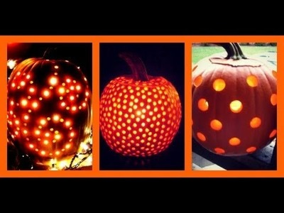 Use a drill to carve your pumpkins!