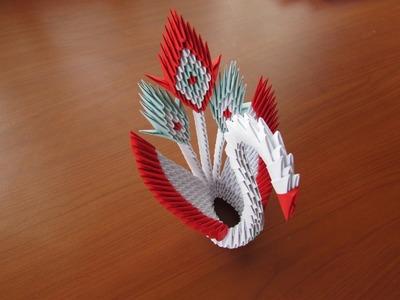 3D Origami Peacock Tutorial