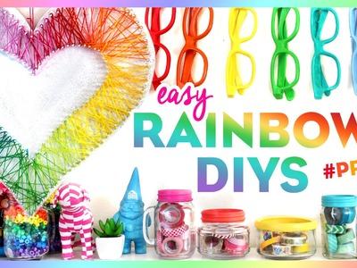4 Easy Rainbow DIYs ~ #PRIDE ~ Bring Color to Your Room This Summer!