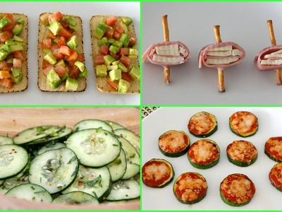 4 HEALTHY + EASY SNACK.LUNCH IDEAS!