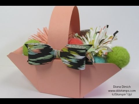 A Basket made with the Stampin' Up! Envelope Punch Board