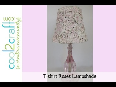 Aleene's T-Shirt Roses Lampshade by Tiffany Windsor
