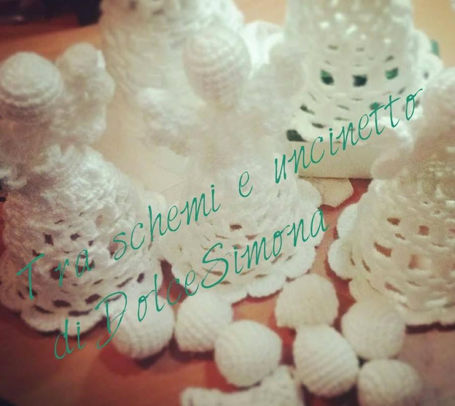 Angelo uncinetto parte 1(crocheted angel)