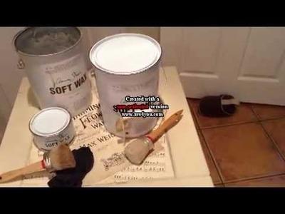 Annie Sloan Dark Wax Tutorial by Vintage Uniques Painted Furniture