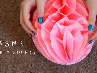 *ASMR Binaural* Crinkly Sounds | Plastic, Brown Paper, Tissue Paper Ball | No Talking