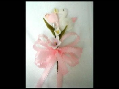 Baby shower corsages,