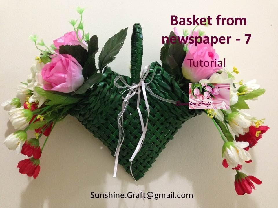 Basket from newspaper 7 - Tutorial