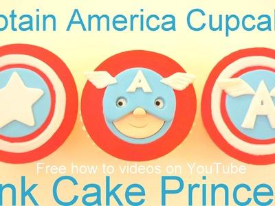 Captain America Cupcakes - How to Make Captain America Cupcake Face