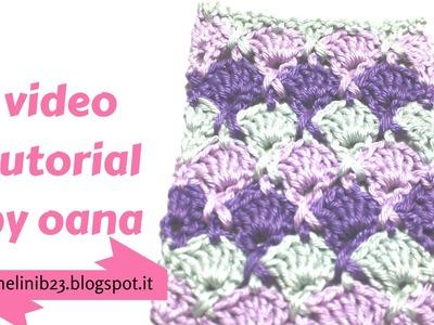 Crochet criss cross shell stitch