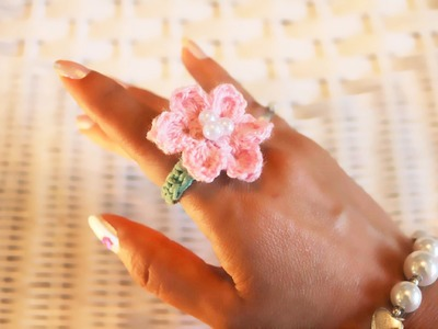 Crochet Flower Ring