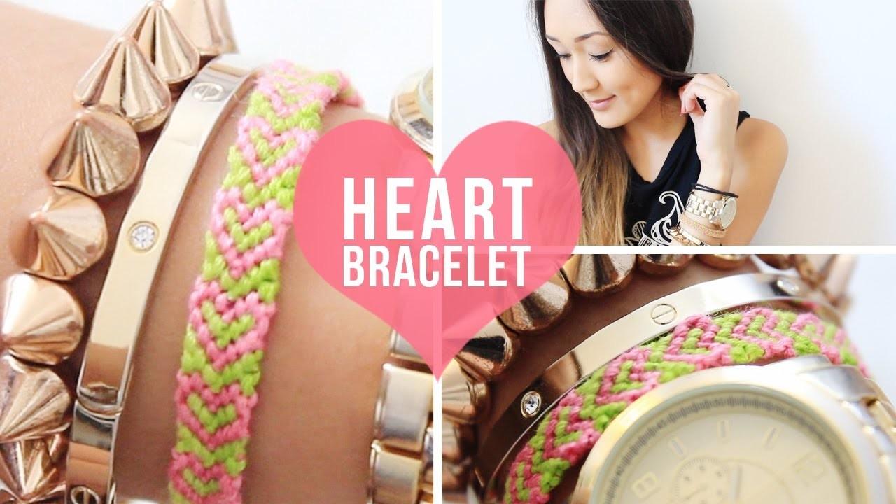 DIY: Heart Pattern Bracelet | LaurDIY