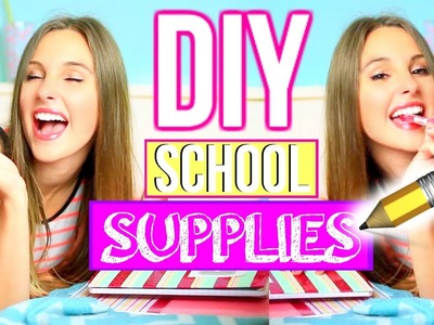 DIY School Supplies for Back to School!