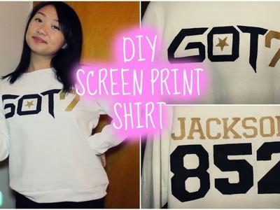 DIY Screen Printing using Freezer Paper FT. GOT7 | heyimvicky