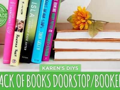 DIY Stack of Books Doorstop.Bookend - HGTV Handmade