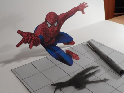 Drawing a 3D Spiderman