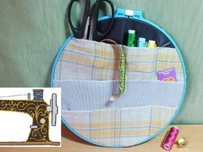 Easy DIY organizer for accessories How to Make a Thread Spool Holder