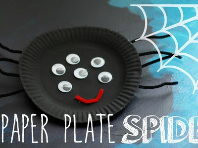 Easy Paper Plate Craft: Make a Spider!
