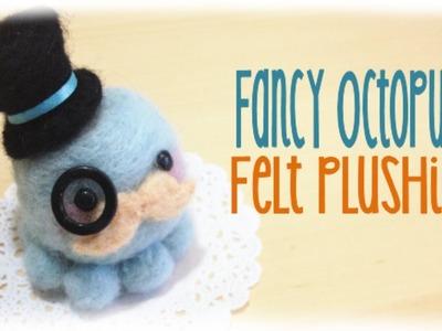 Fancy Octopus Mustache Plushie Tutorial - Japanese Needle Felt Kit