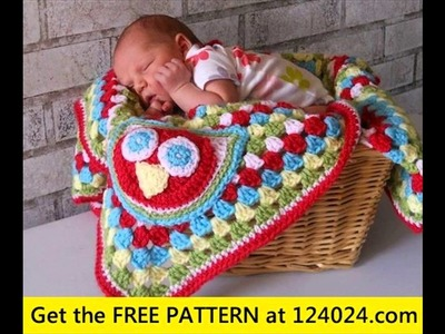 Free crochet granny square baby blanket patterns