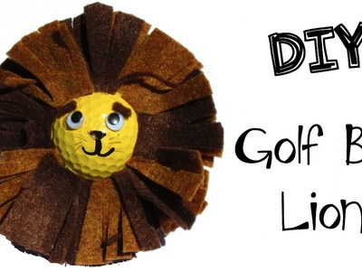 Golf Ball Lion DIY   Recycling Craft Series Craft Klatch