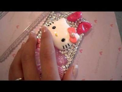 Hello Kitty Swarovski Bling iPhone 4 Case