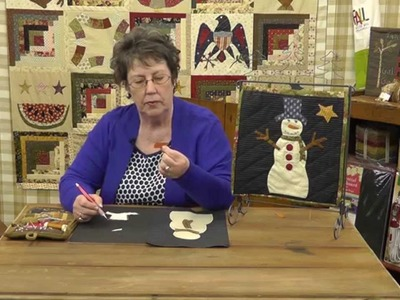 How to Applique a Snowman Quilt Block with Jan Patek- Block 11- Calendar Quilt BOTM