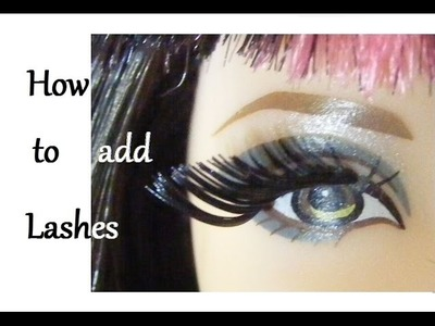 How to apply Lashes to your Dolls. How to root. reroot.  add. put Lashes to your Dolls