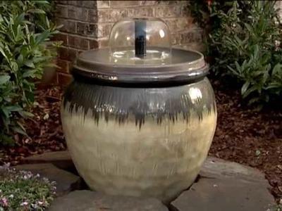 How to Build an Outdoor Garden Water Fountain