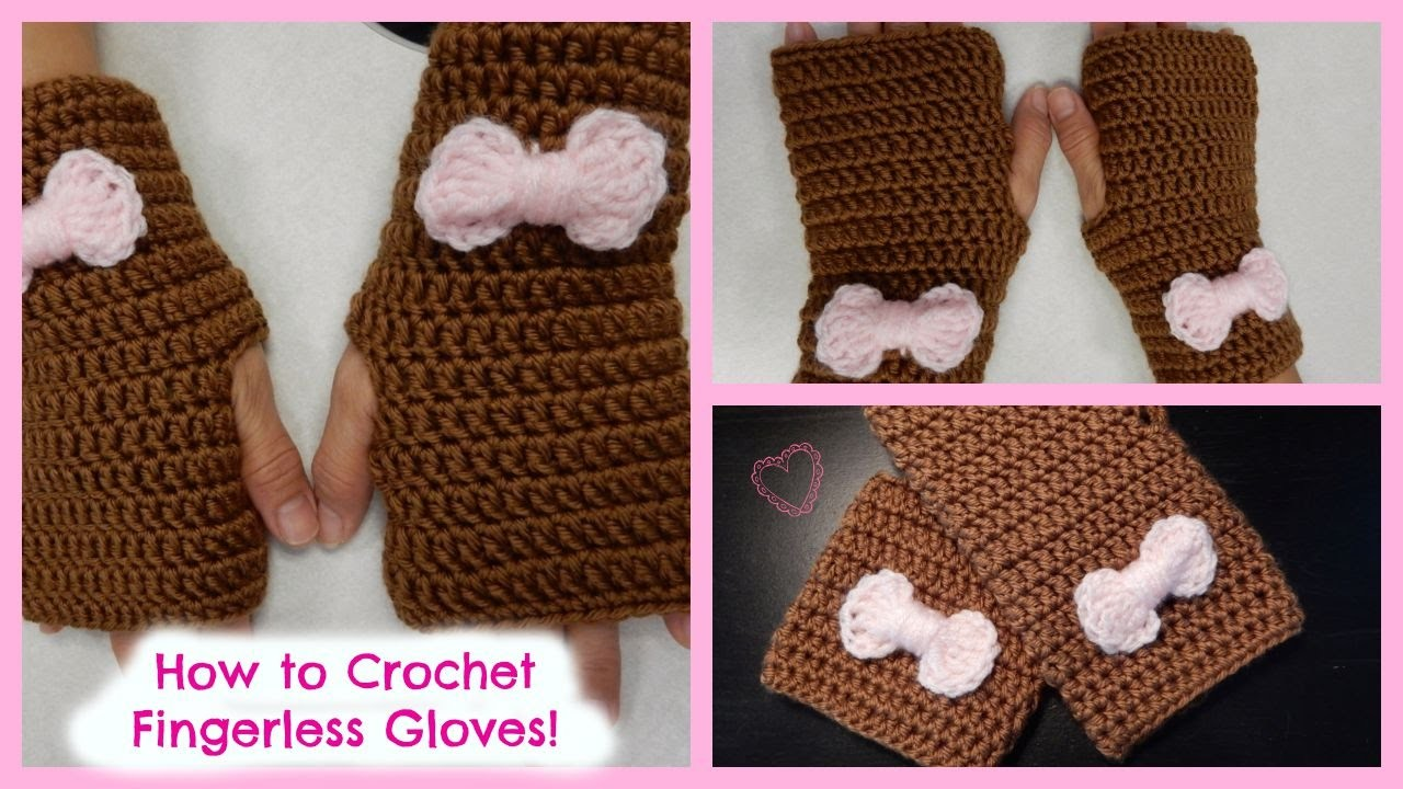 How to Crochet Quick and Easy Fingerless Gloves!