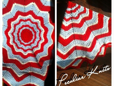 HOW TO CROCHET : RAINBOW RIPPLE BABY BLANKET TUTORIAL PART 1