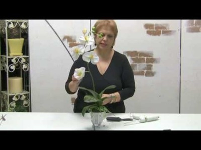 How To Design With Silks - Floral Design Series: How To Make A Simple Orchid Arrangement