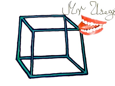 How to draw an IMPOSSIBLE CUBE-Optical Illusion Easy 3D | draw easy stuff but cool | SPEEDY