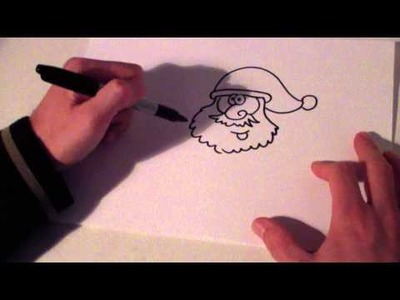 How to draw christmas decorations   how to draw santa claus