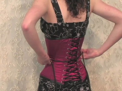How to Lace a Corset (by Yourself)