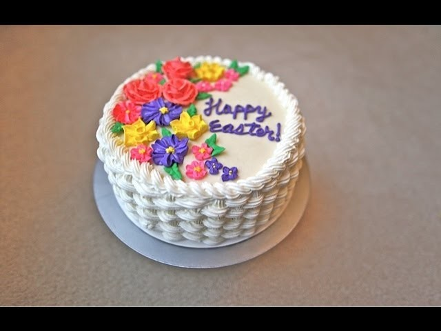 How to make a basket weave cake