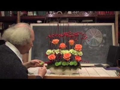 How To Make A Contemporary Berry Hedge Flower Arrangement