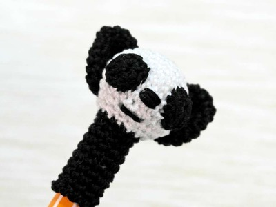 How To Make A Cute Crocheted Panda Pen Cap - DIY Crafts Tutorial - Guidecentral