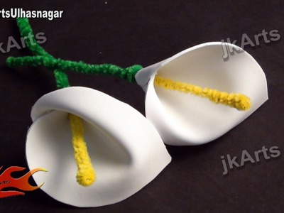 How to Make a Foam Flower Calla Lily - JK Arts 544