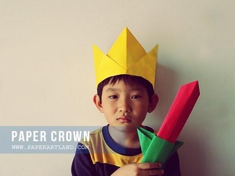 How to Make a Paper Crown - Cómo Hacer un Papel Corona