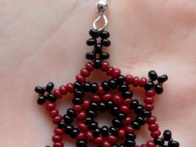 How To Make Cute Star - DIY Shaped Beaded Earrings Tutorial - Style