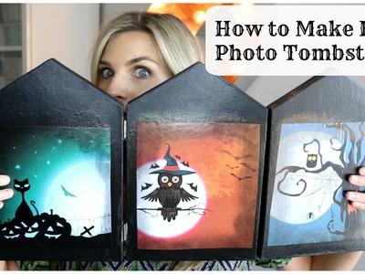 How to Make Easy Photo Tombstones Halloween DIY