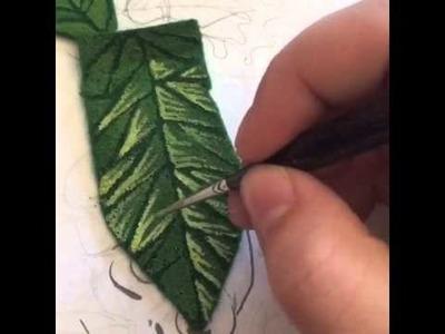 How to Make Felt Leaves