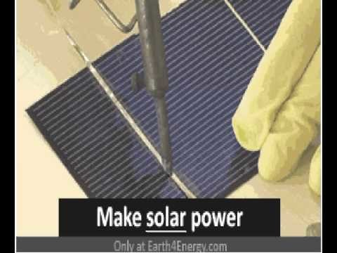 How to make solar cells