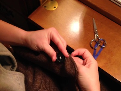 How to Sew a Suit Coat Button