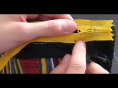 How to sew a zipper on a wallet