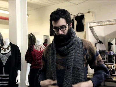 How to Tie a Hipster Scarf : Men's Outfit Ideas