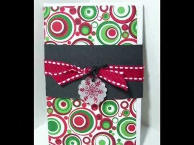 Lilacs and Lupines #4 ~ Handmade Gift Card Holder