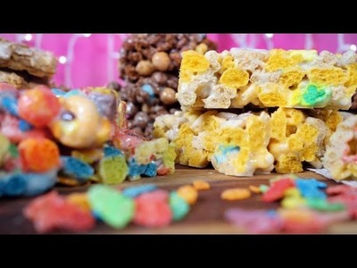 Marshmallow Cereal Bars w. Lucky Charms, Coco Puffs and More! | Just Add Sugar
