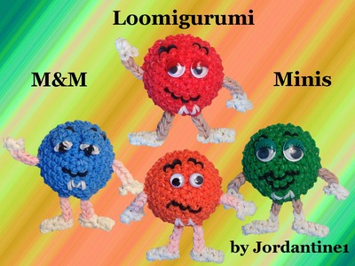 New Loomigurumi. Amigurumi M&M Mini - Rubber Band Crochet - Hook Only - Rainbow Loom