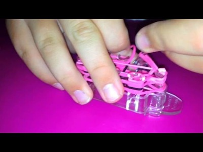 "New Monster Tail Loom bracelet invention - Criss cross ""Pig Face Bracelet"" - Tutorial!"